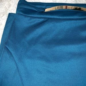 Chocolate Skirts - Blue pin skirt with gold belt
